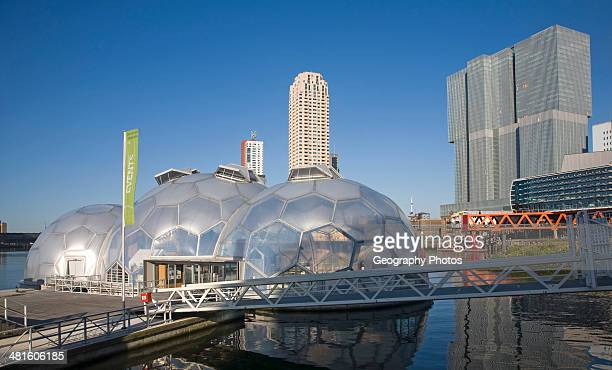 The Floating Pavilion experiment in sustainable architecture and Climate Proof Development Rotterdam Netherlands designed by Deltasync and...
