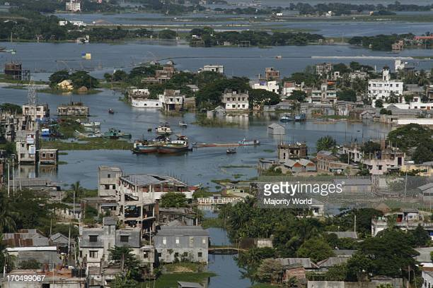 The flood affected are of North Badda in Dhaka city in Bangladesh August 5 2007