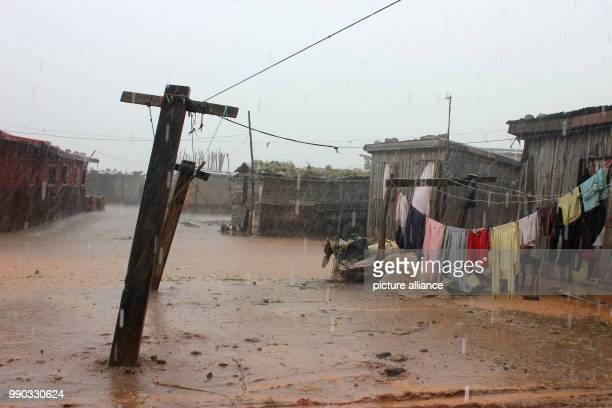 The flooded residential area of Ankorondrano, a part of the southern districts of Antananarivo, seen, in Madagascar, 06 January 2018. At least 29...