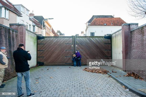The floodgates at the Waalkade have been closed in Nijmegen The Netherlands on January 7 2018 after heavy rainfalls