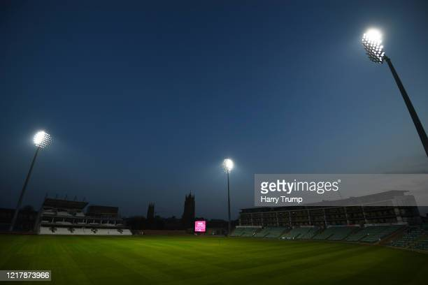 The Floodlights are turned on at the Cooper Associates County Ground, the home of Somerset CCC as a mark of respect and thanks to the NHS at the...