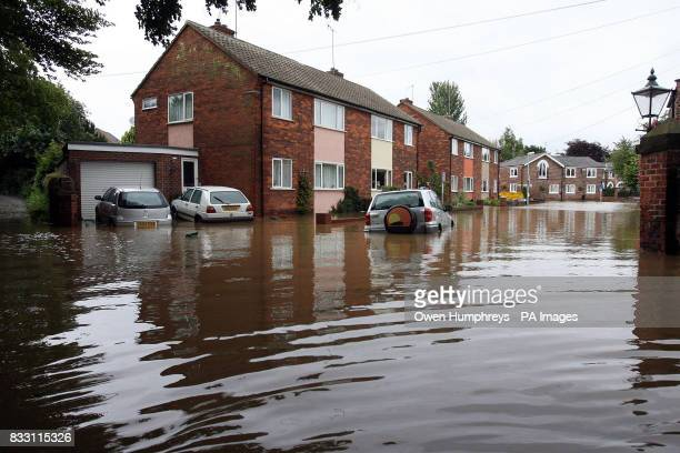 The floods in Beverley East Yorkshire today