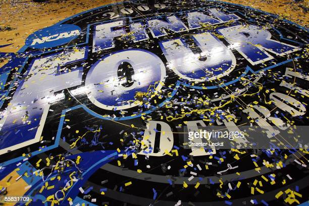 The floor at center court after the North Carolina Tar Heels defeated the Michigan State Spartans 8972 during the 2009 NCAA Division I Men's...