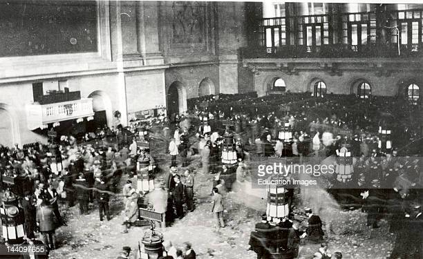 The Floor Of The New York Stock Exchange Secretly Shot With A Camera Hidden In The Photographer'S Sleeve] C1907 Nov