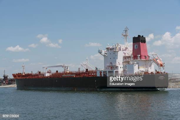 The Florida a tanker ship in position against the quay Port of Tampa Florida USA