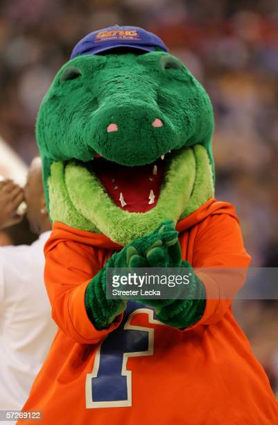 The Florida Gators mascot claps during the game against the UCLA Bruins during the National Championship game of the NCAA Men's Final Four on April 3...
