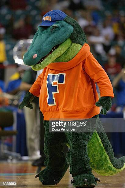 The Florida Gators mascot during the second round of the SEC Men's Basketabll Tournament against the Alabama Crimson Tide on March 12, 2004 at the...