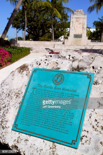 The Florida Keys Memorial plaque