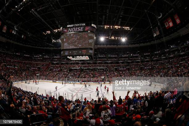 The Florida Panthers host the New York Rangers at the BB&T Center on December 8, 2018 in Sunrise, Florida.