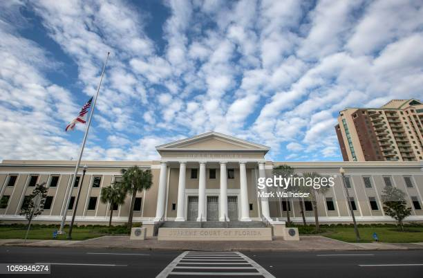 The Florida Supreme Court building is pictured on November 10, 2018 in Tallahassee, Florida. Three close midtern election races for governor,...