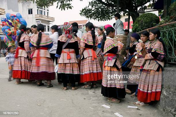 The Flower H'Mong hilltribe live around the rural area of Bac Ha On Sundays they flock into Bac Ha for their weekly market get together and visit the...