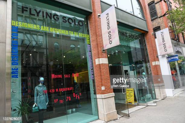 The Flying Solo store in Soho is now open to have a moving sale during the COVID-19 pandemic on May 28, 2020 in New York City. Government guidelines...