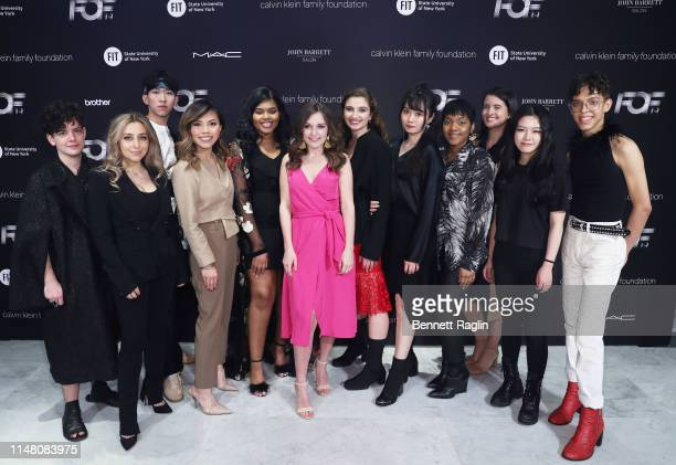 The FOF Critic Award winners attend the FIT Future of Fashion Runway Show on May 09 2019 in New York City