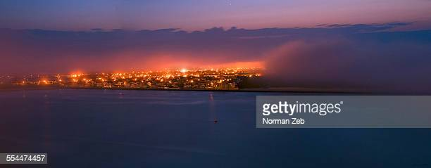 the fog creepers! - atlantic city stock pictures, royalty-free photos & images
