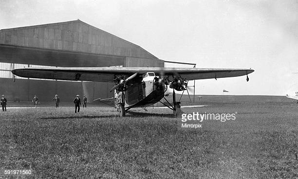 The Fokker aeroplane in which Captain Alfred Lowenstein disappeared while crossing the channel 6th July 1928