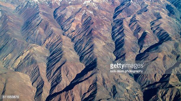 the folds of the andes - plate tectonics stock photos and pictures