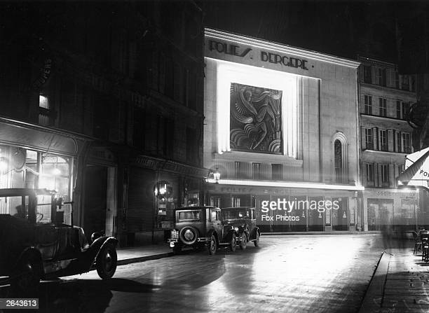 The Folies Bergere theatre in Paris 1st February 1929
