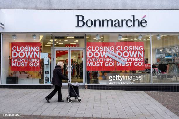 The Folkestone Bonmarche store in the final few days of the Everything Must Go sale before closing down on 13th Jauary 2020 in Folkestone Kent United...
