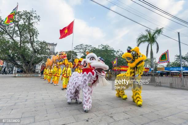 namdinh, vietnam - feb 7, 2017 : the folklore activities to commemorate the national hero tran hung dao  in tran temple festival, namdinh, vietnam. - ナムディン ストックフォトと画像