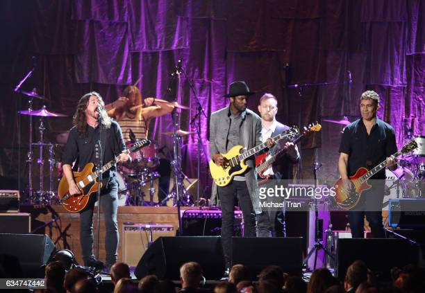 The Foo Fighters and Gary Clark Jr perform onstage during the 2017 MusiCares Person of the Year honors Tom Petty held on February 10 2017 in Los...