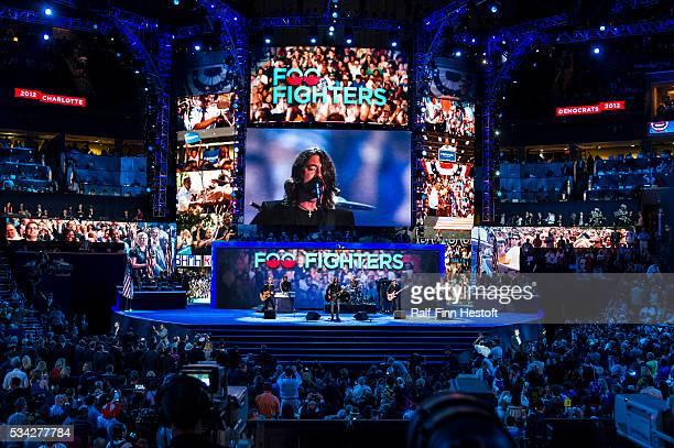 The Foo Fighters perform at the Democratic National Convention in Charlotte NC