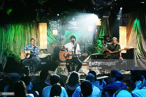 The Foo Fighters perform during MTV2's '24 Hours Of Foo' at the MTV Times Square Studios June 11 2005 in New York City