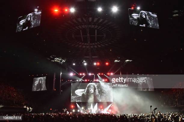 The Foo Fighters perform onstage during I Am the Highway A Tribute to Chris Cornell on January 16 2019 in Inglewood California