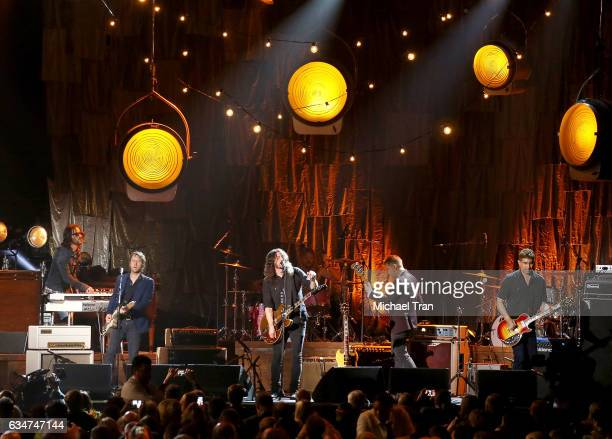 The Foo Fighters perform onstage during the 2017 MusiCares Person of the Year honors Tom Petty held on February 10 2017 in Los Angeles California