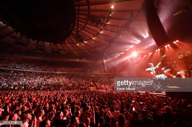 The Foo Fighters reopen Madison Square Garden on June 20, 2021 in New York City. The concert, with all attendees vaccinated, is the first in a New...