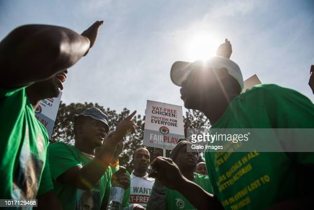 The Food and Allied Workers Union and civil organizations march from Church Square to the National Treasury demanding help in fighting illicit crime...