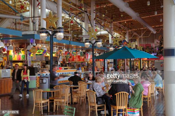 The food court at Riverwalk Marketplace