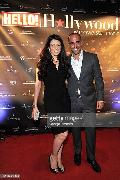 The Food Network's Nina and David Rocco attend Rising Stars Walk The Red Carpet Hello Hollywood Party during the 2012 Toronto International Film...