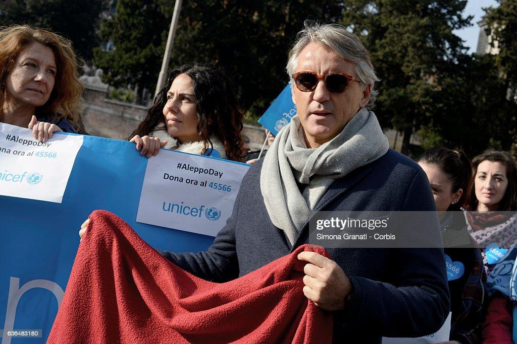 Aleppo Day in Rome : News Photo