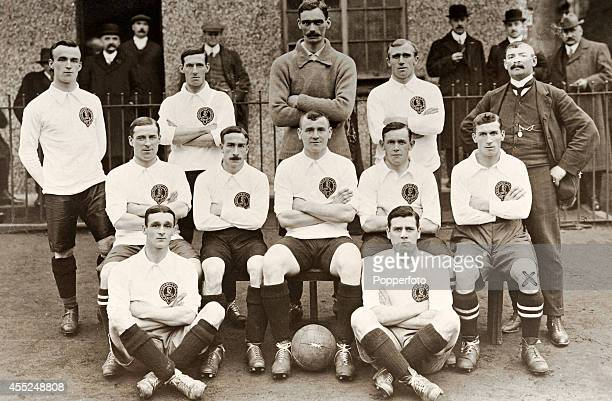 The Football League team captained by Charlie Roberts prior to their match against the Southern League at the Victoria Ground in Stoke on Trent on...