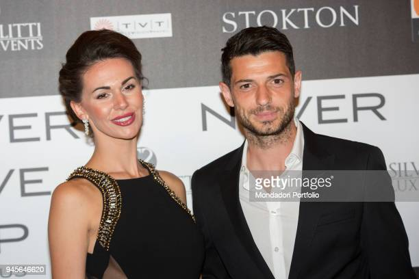 The football player Blerim Dzemaili and his wife Erjona Sulejmani attending the charity gala Never Give Up at The Westin Palace of Milan Milan Italy...