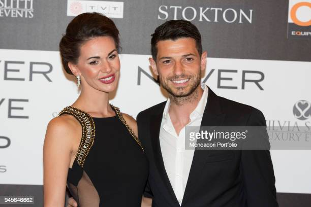 The football player Blerim Dzemaili and his wife Erjona Sulejmani attending the charity gala Never Give Up at The Milan Westin Palace Milan Italy 4th...