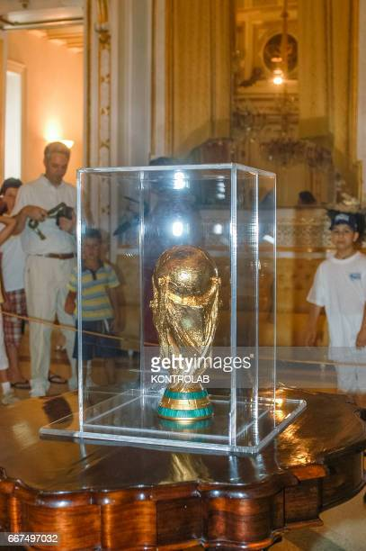 The football World Cup brought in Corigliano by Gennaro Ivan Gattuso known as Rino player of the Italian national team and winner of the World Cup
