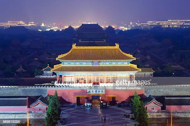 The Forbidden City at night, Beijing, China