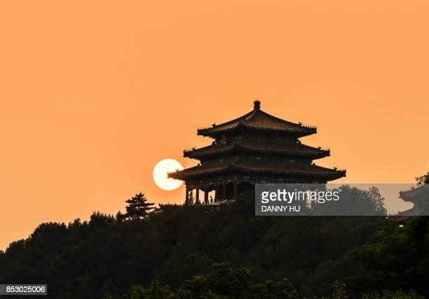 the forbidden city at sunset, Beijing