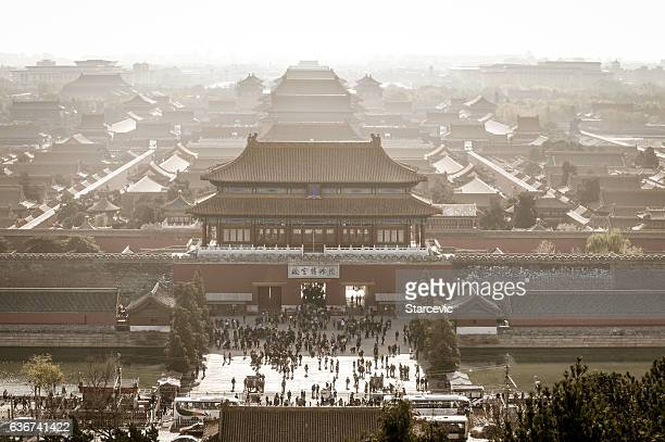 the forbidden city in beijing, china - palace stock pictures, royalty-free photos & images