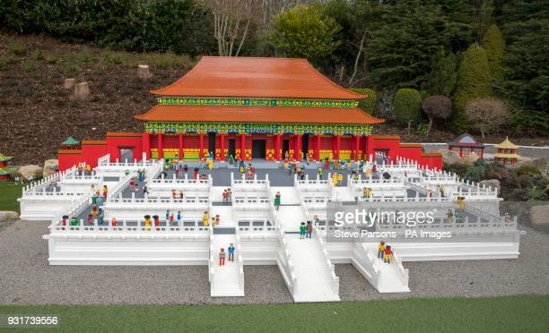 The Forbidden City in China at LEGOLAND Windsor Resort as they unveil new iconic additions to its world famous Miniland attraction in Berkshire