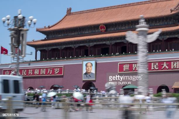 TOPSHOT The Forbidden City is seen in Beijing on June 4 on the anniversary of the 1989 crackdown on protesters Hundreds by some estimates more than a...