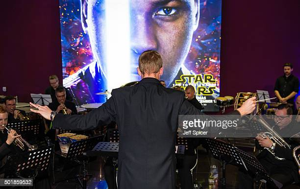 The Force awakened for Star Wars fans arriving at Vue Westfield London yesterday when they were welcomed by a full orchestra playing the movie's...