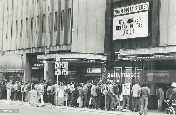 The Force is with them Many hours before the curtain went up today at the University Theatre hundreds of Star Wars fanatics were lined up along Bloor...