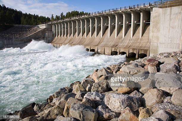 The Force of Water from a Dam.