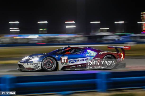 The Ford Chip Ganassi Racing IMSA Ford GT of Ryan Briscoe Scott Dixon and Richard Westbrook races during the Rolex 24 at Daytona on January 27 2018...