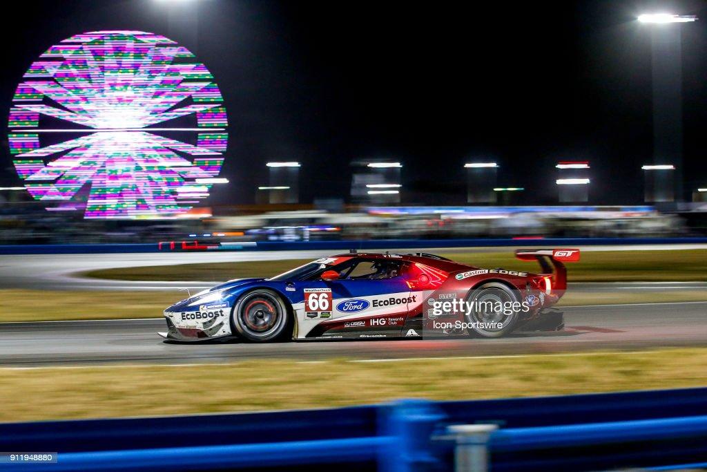 The  Ford Chip Ganassi Racing Imsa Ford Gt Of Sebastien Bourdais Joey Hand