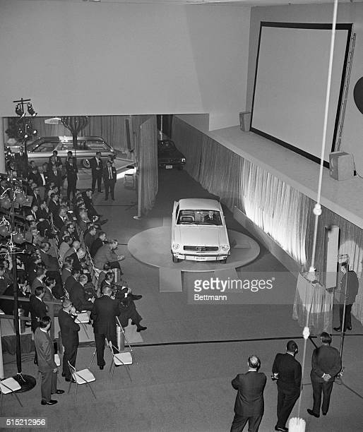 The Ford Company unveils the new Mustang to the press at the World's Fair in New York