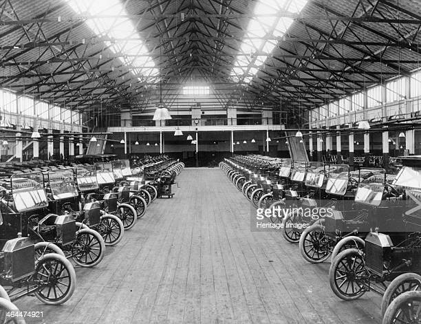 The Ford factory Manchester c1911 Lines of Model Ts off the production line