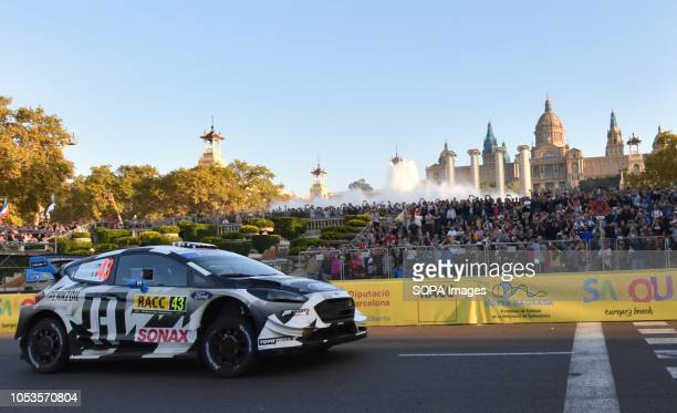 The Ford Fiesta WCR of drivers Ken Block and Alex Gelsomino seen at the asphalt stage in Barcelona during the RACC Catalunya Costa Daurada Rally